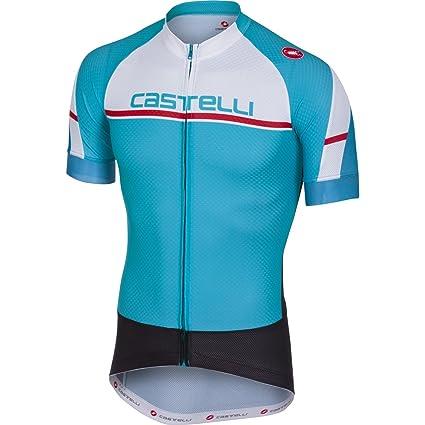 Amazon.com   Castelli 2018 Men s Distanza Full Zip Short Sleeve ... ea591dda9