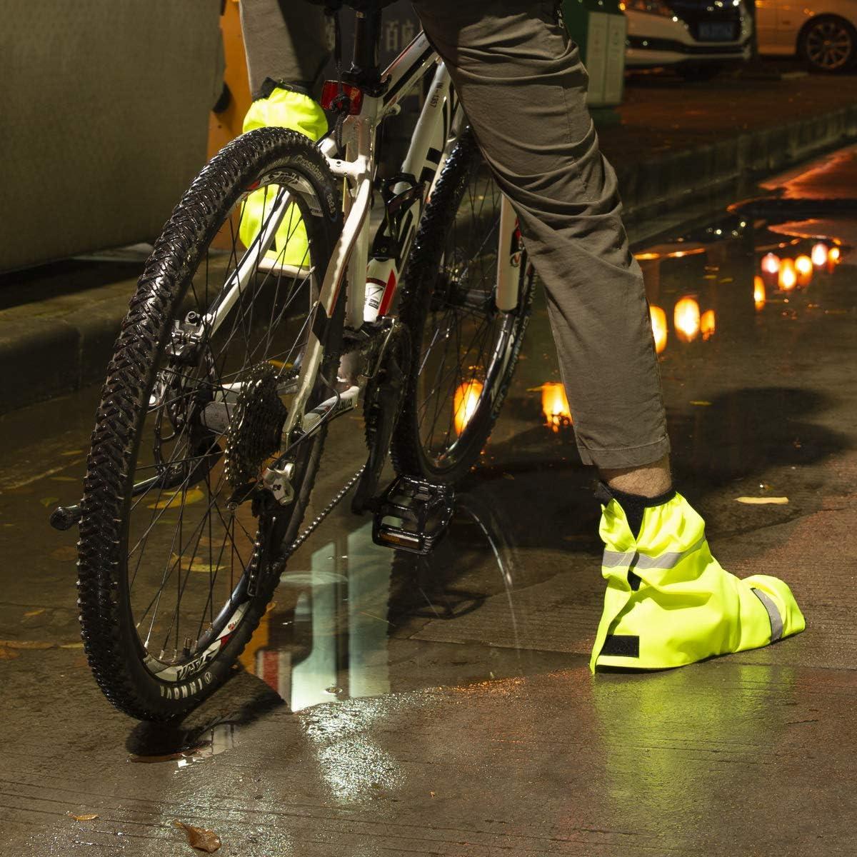 Reminnbor Copriscarpe impermeabile per stivali da pioggia Moto Scooter Bicicletta Ciclismo Copriscarpe antiscivolo impermeabili per escursioni allaperto Campeggio pesca L-Chiaro