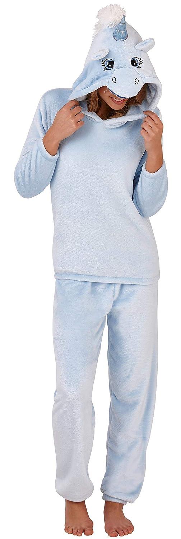 TALLA Medium (40-42). Pinzhi–Sherpa Forro Polar Frontal Teddy Pijama con Lunares Armas/Pantalones y puños, Color Morado/Crema