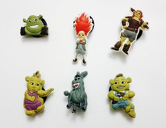 Universal Shrek Shoe Charms 6 Pc Set