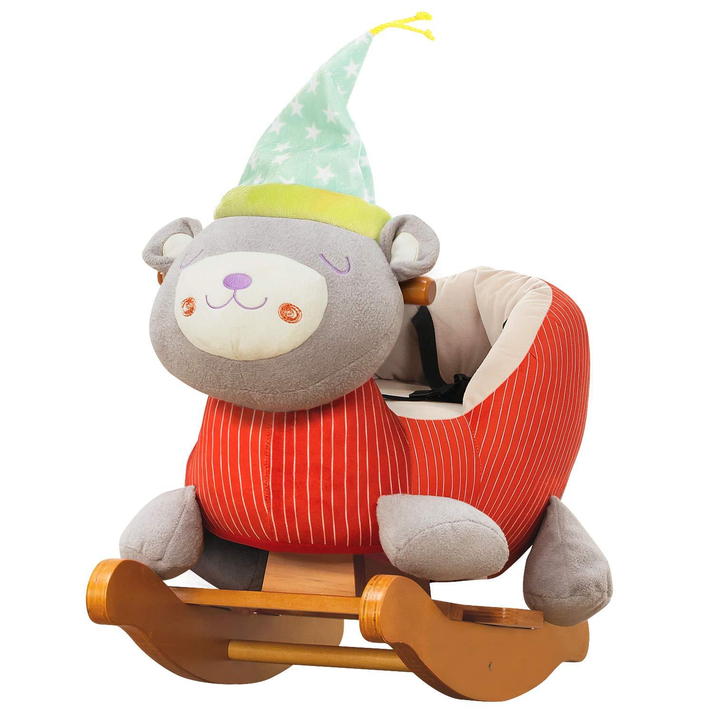 Amazon Com Labebe Child Rocking Horse Toy Stuffed Animal Rocker