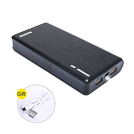 SKYVAST 20000mAh Portable Charger External Battery Power Bank for Smart Phones and Tablets (20000mAh Black)