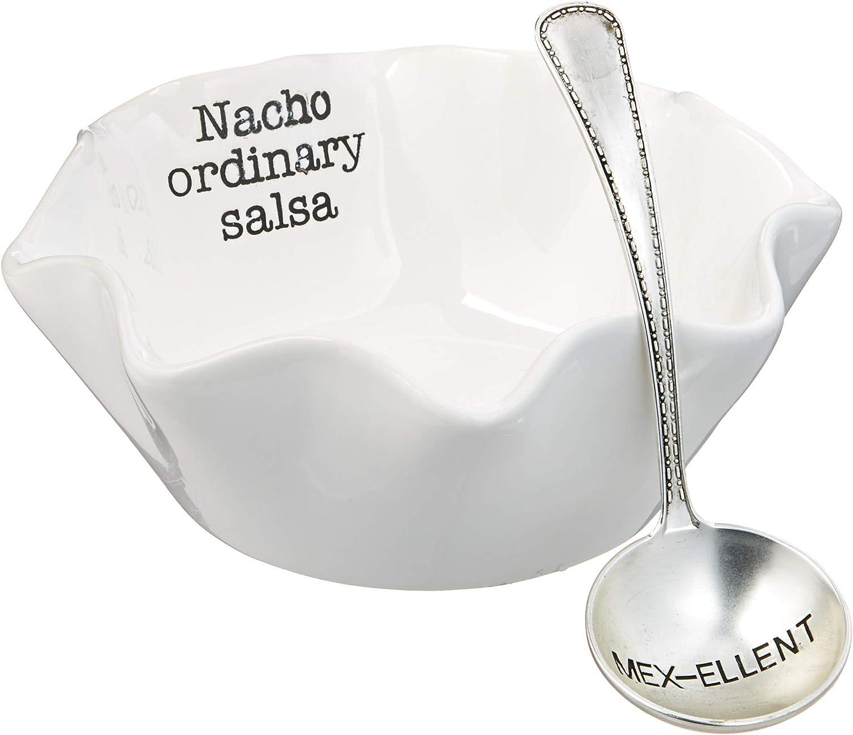 Mud Pie 4851078 Salsa Dip Cup Set, Nacho