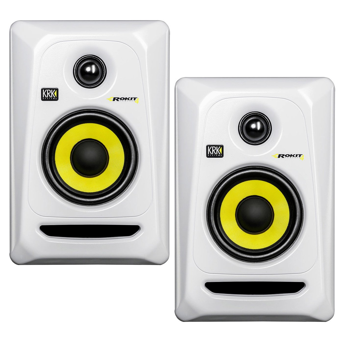 KRK RP4G3 4'' High Performance Studio Monitors - White (Pair)
