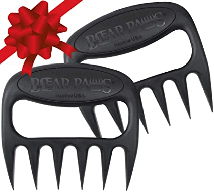 The Original Bear Paws Shredder Claws - Easily Lift, Handle, Shred, and Cut Meats - Essential for BBQ Pros - Ultra-Sharp Blades and Heat Resistant Nylon best gifts for hunters
