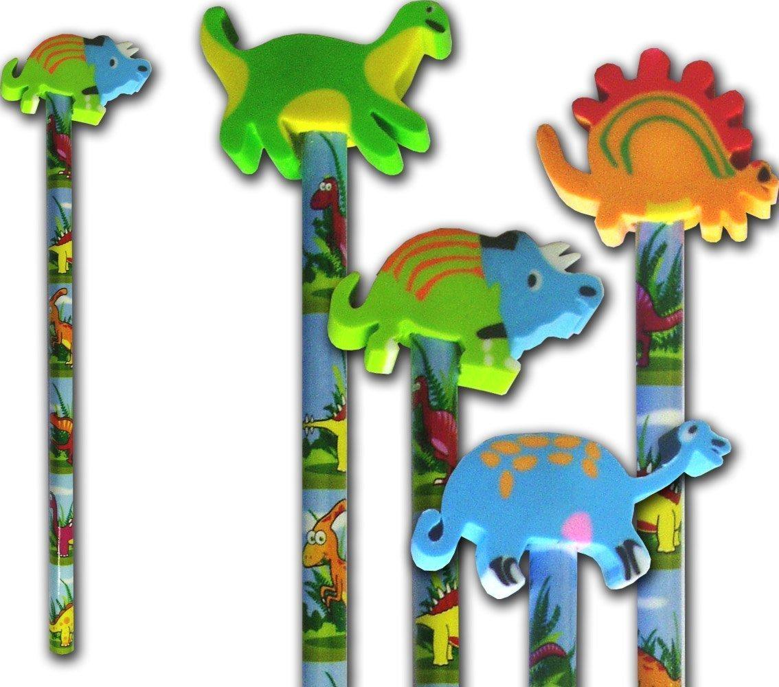 dinosaurio Lápiz y dinosaurio goma papelería & relleno piñata x 6 Henbrandt S09 346