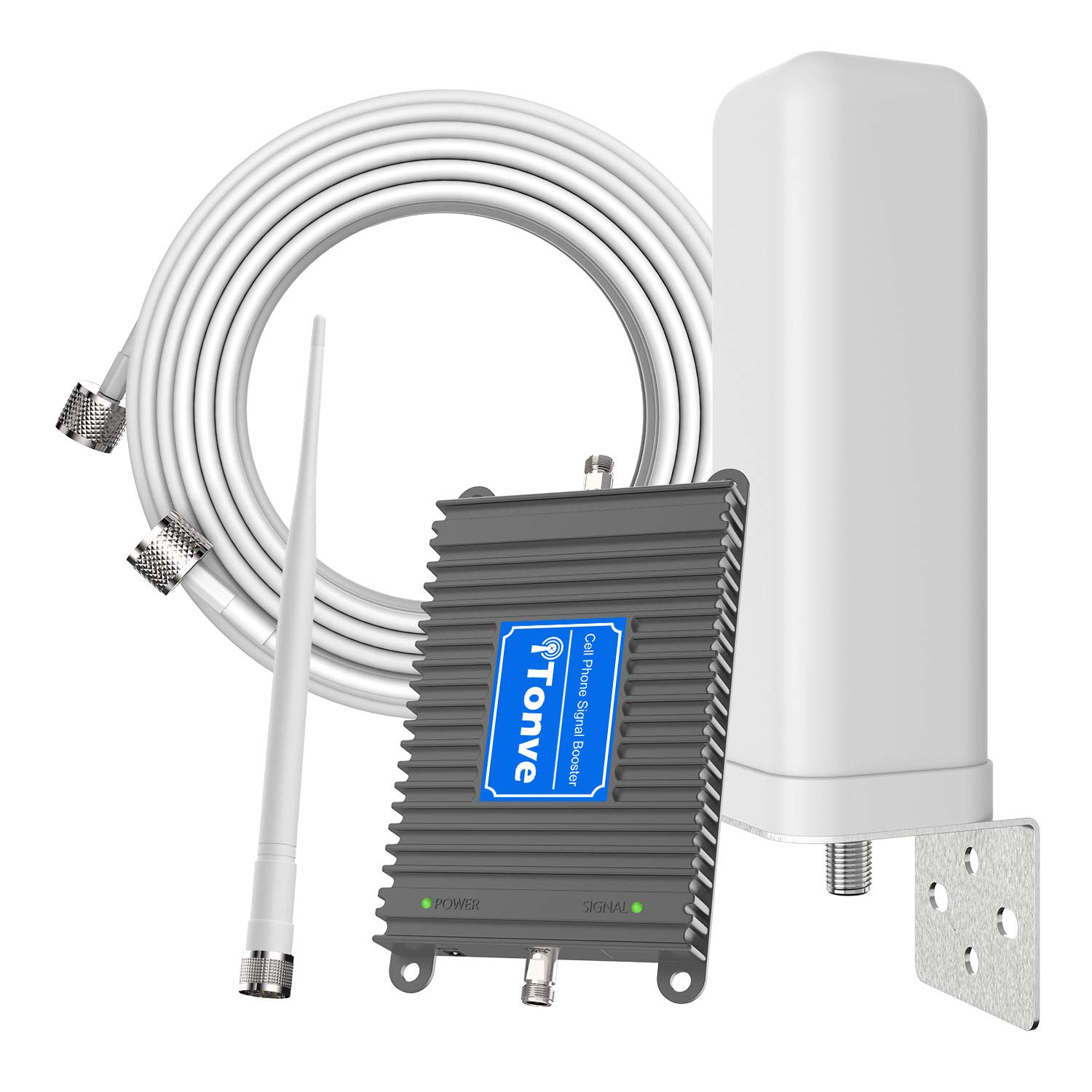 Home Cell Phone Signal Repeater Booster 4G LTE Dual Band 700MHz Band 12/13/17 Mobile Signal Amplifier Omni-Directional Antenna for Verizon, AT&T, T-Mobile, Straight Talk, U.S. Cellular Supports Volte by Tonve