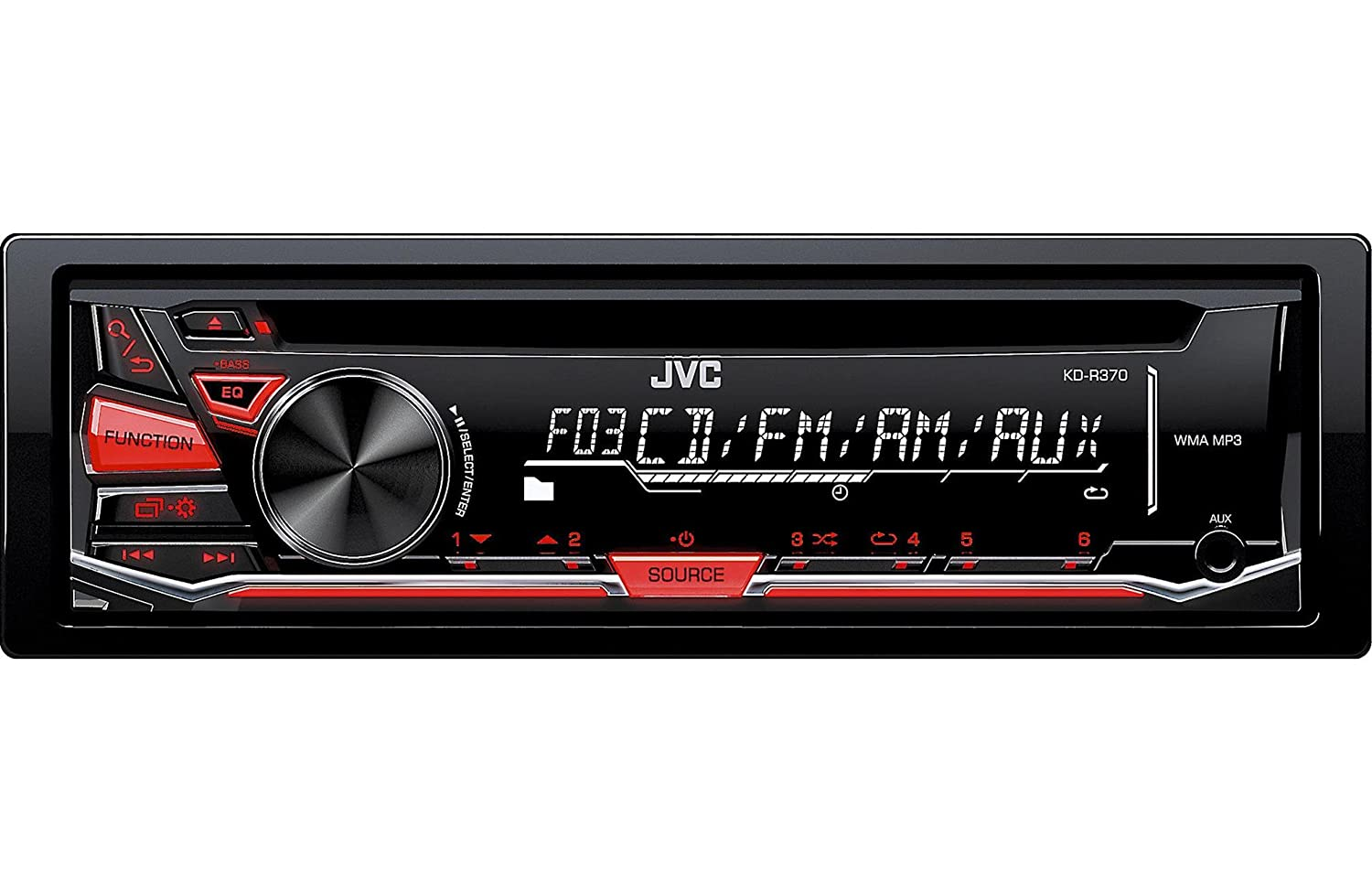 Amazon.com: JVC KD-R370 Single DIN in-Dash CD/AM/FM/Receiver with  Detachable Faceplate: Car Electronics