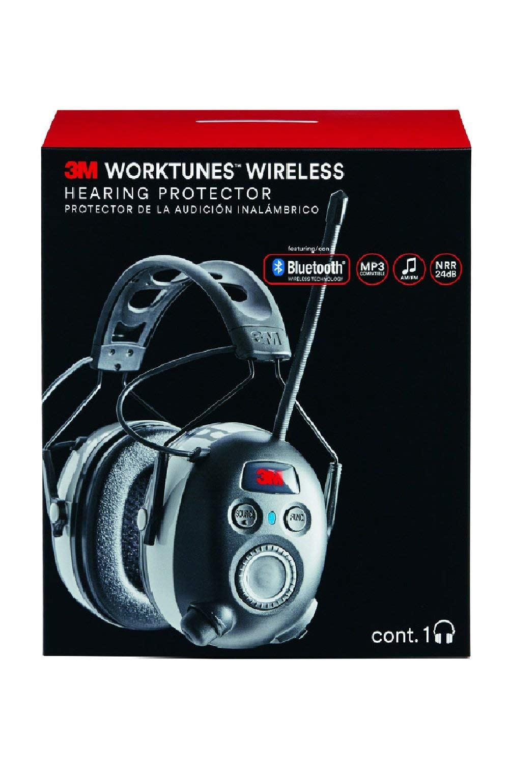 3M Worktunes Wireless Hearing Protection with Bluetooth Technology and AM/FM Radio (Renewed) by 3M Safety