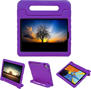 NEWSTYLE Shockproof Case for Apple iPad Pro 11 inch Case Light Weight Kids Case Super Protection Cover Handle Stand Case for Kids Children with Apple Pencil Holder (2018 Released) (Purple)