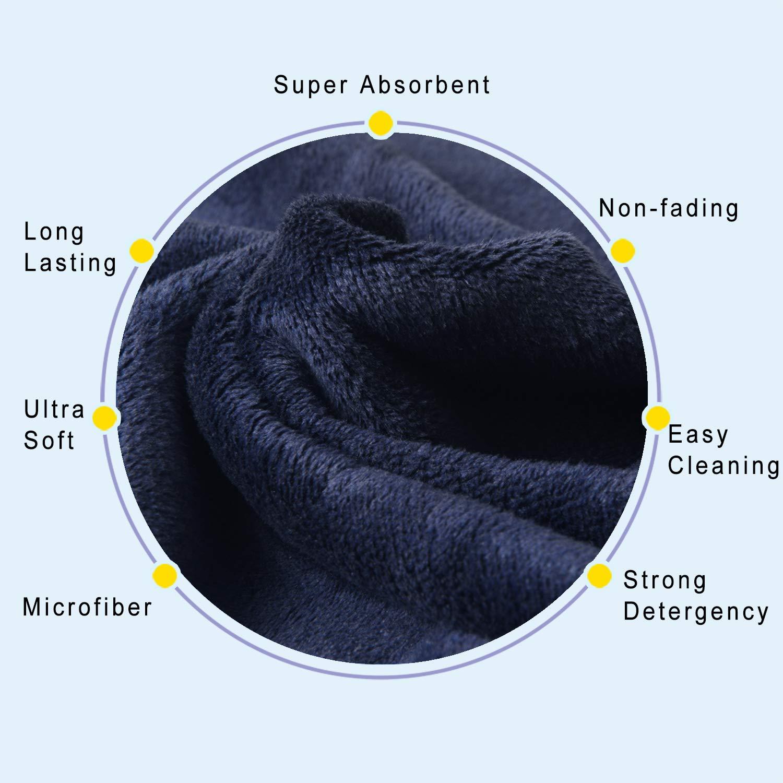 KinHwa Asciugamani da Asciugatura per Auto in Microfibra ultramorbida Asciugamani per Auto assorbenti AntiGraffio Asciugamani per Auto Lavaggio ad Asciugatura Grigi 3pcs 40cmx60cm