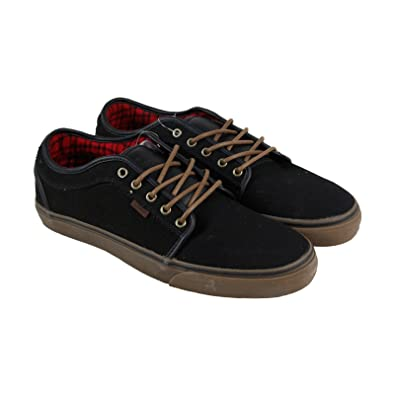 4225833a2b6c Image Unavailable. Image not available for. Color  Vans Chukka Low Mens  Skateboarding Shoes Black  Gum  Flannel
