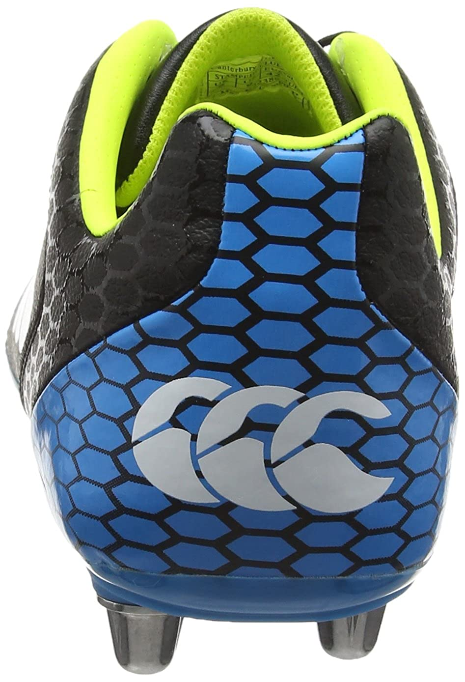 0b3ad0a2909a Canterbury Men Stampede Club 8 Stud Rugby Boots, Black (989  Yellow/Blue/White), 8.5 UK 42 1/2 EU: Amazon.co.uk: Shoes & Bags