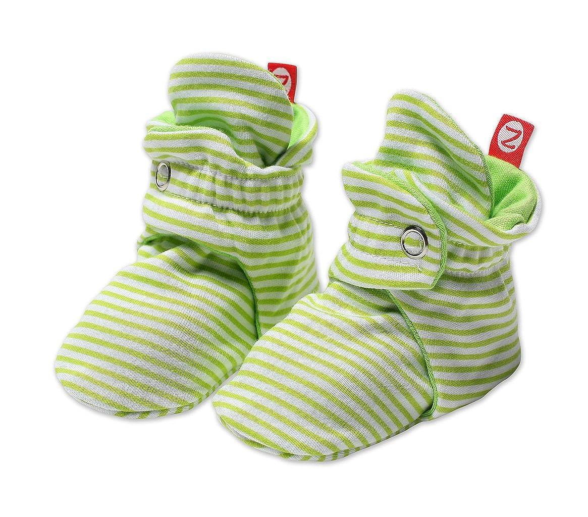 Zutano unisex-baby Unisex-baby Newborn Candy Stripe Booties Black 3 Months Zutano Baby PIB39