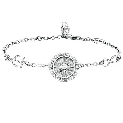 BlingGem Tree of Life Bracelet Meaningful Charm 925 Sterling Silver White gold plated Chain Bracelet-Jewellery for Women 6BhEEF2