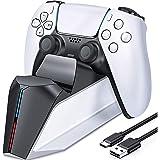Carregador do controlador PS5, estação de carregamento PS5 para controlador dualsense Playstation 5, atualização TwiHill esta