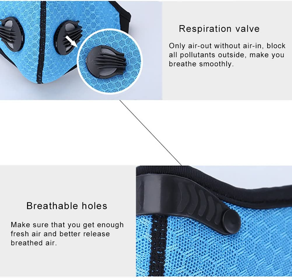 zNLIgHT Respirant Anti Brouillard Brume Antipoussi/ère Coupe-Vent Sports De Plein Air Cyclisme De Protection Demi Visage Couverture Bouche-Muffle