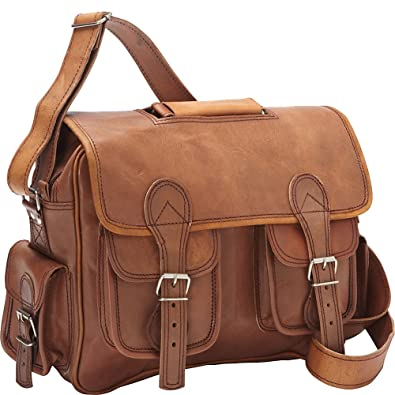 61174b91ad11 Sharo Leather Bags Satchel (Dark Brown)  Handbags  Amazon.com