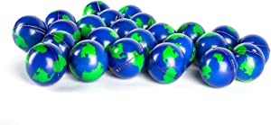 Bulk Lot of 2 Dozen World Stress Balls Earth Stress Relief Toys Therapeutic Educational Balls 24 Globe Squeeze 2