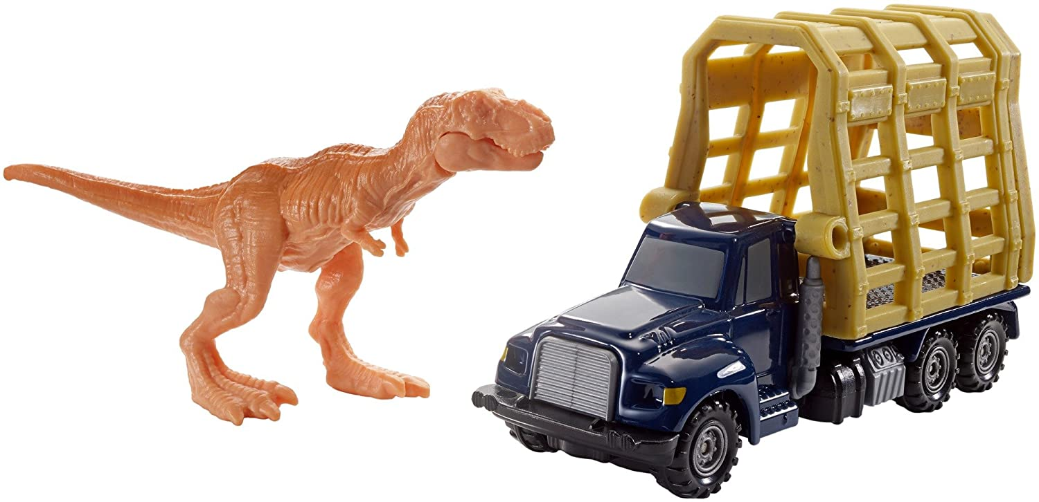 Matchbox Jurassic World Dino Transporters T-Rex Trailer Fisher Price / Mattel Canada FMY37