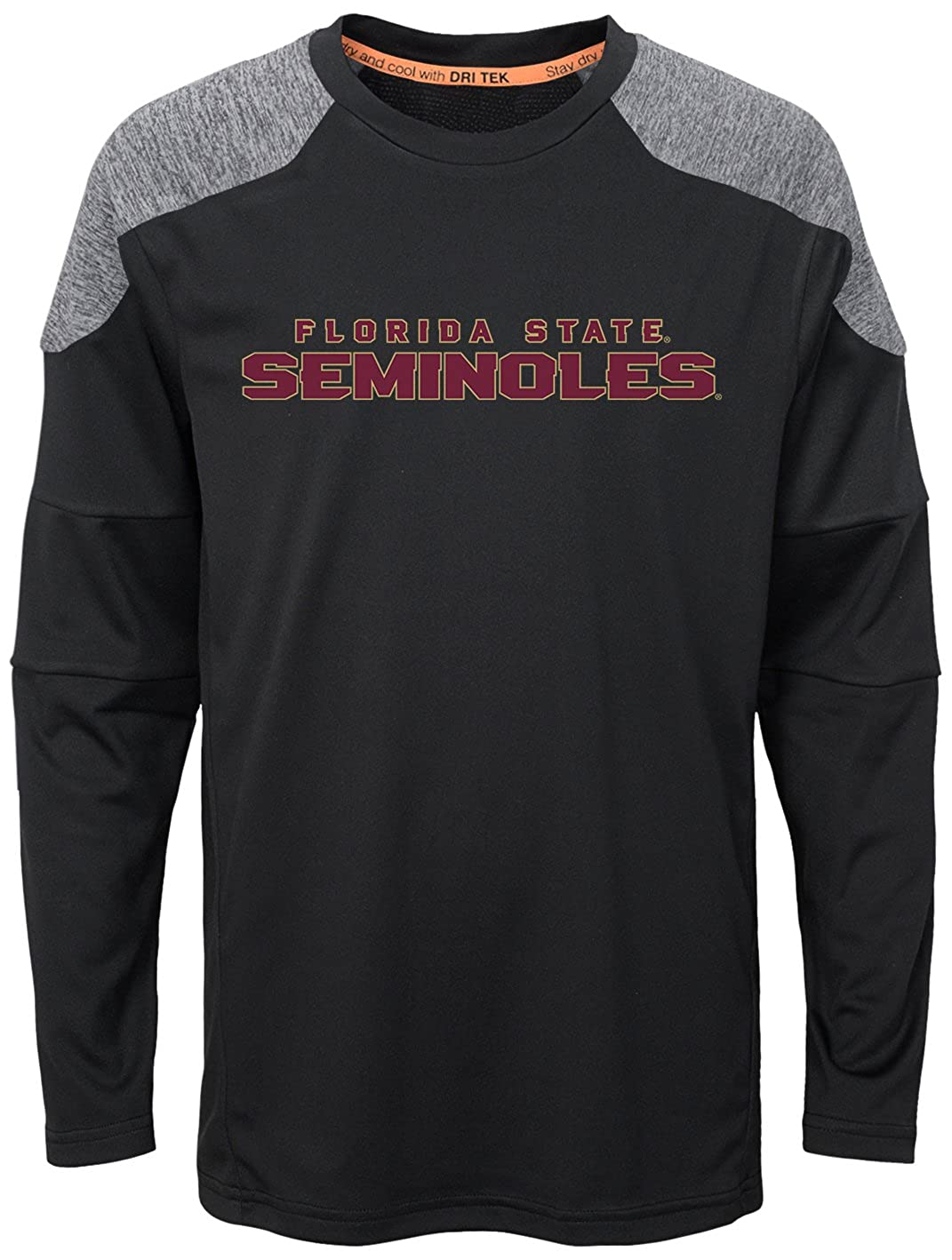 Youth X-Large Team Color NCAA Florida State Seminoles Boys Outerstuff Gamma Long Sleeve Performance Tee 16-18