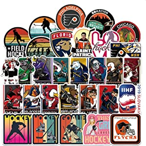 100Pcs Field Hockey Stickers for Water Bottle Cup Laptop Guitar Car Motorcycle Bike Skateboard Luggage Box Vinyl Waterproof Graffiti Patches XQX