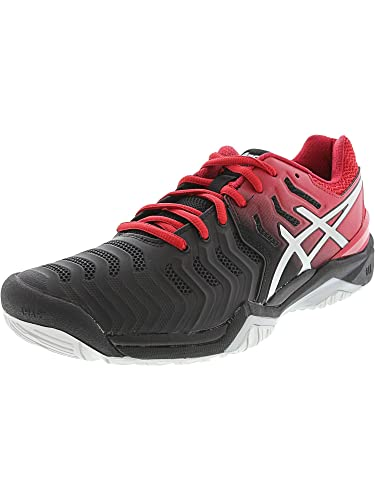 293c8a0c010 ASICS Men s Gel-Resolution 7 Black Silver 6 ...