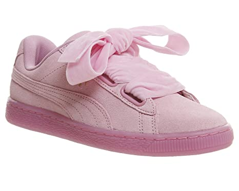 Amazon.com  PUMA Suede Heart Reset Prism Womens Trainers Pink - 6 UK ... c7b3049330