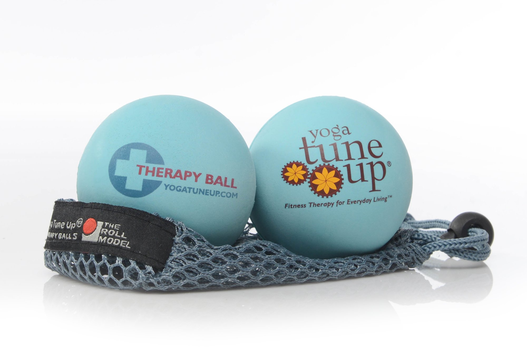Yoga Tune Up Jill Miller's Therapy Balls Pair with Mesh Tote, Aqua Blue by YOGA TUNE UP