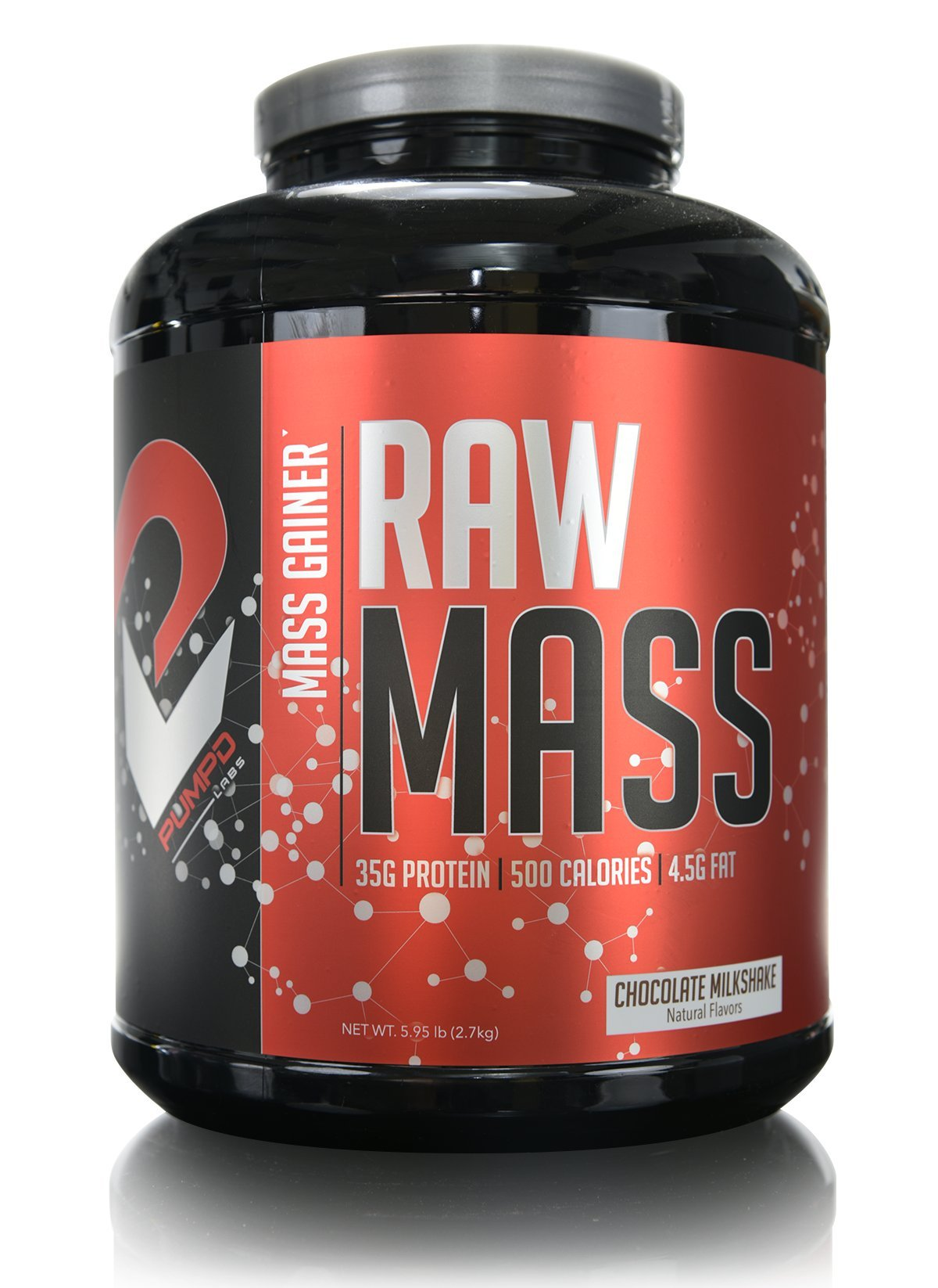 PUMPD LABS RAW MASS (20 Servings, Chocolate Milkshake) Optimally dosed for post-workout - Creatine Monohydrate - Biovine Colostrum - Cluster Dextrin - Best Mass Gainer - Best Recovery - Guaranteed