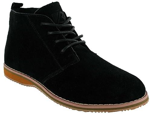 Botas para hombre, de gamuza, con cordones, alta calidad, color marró