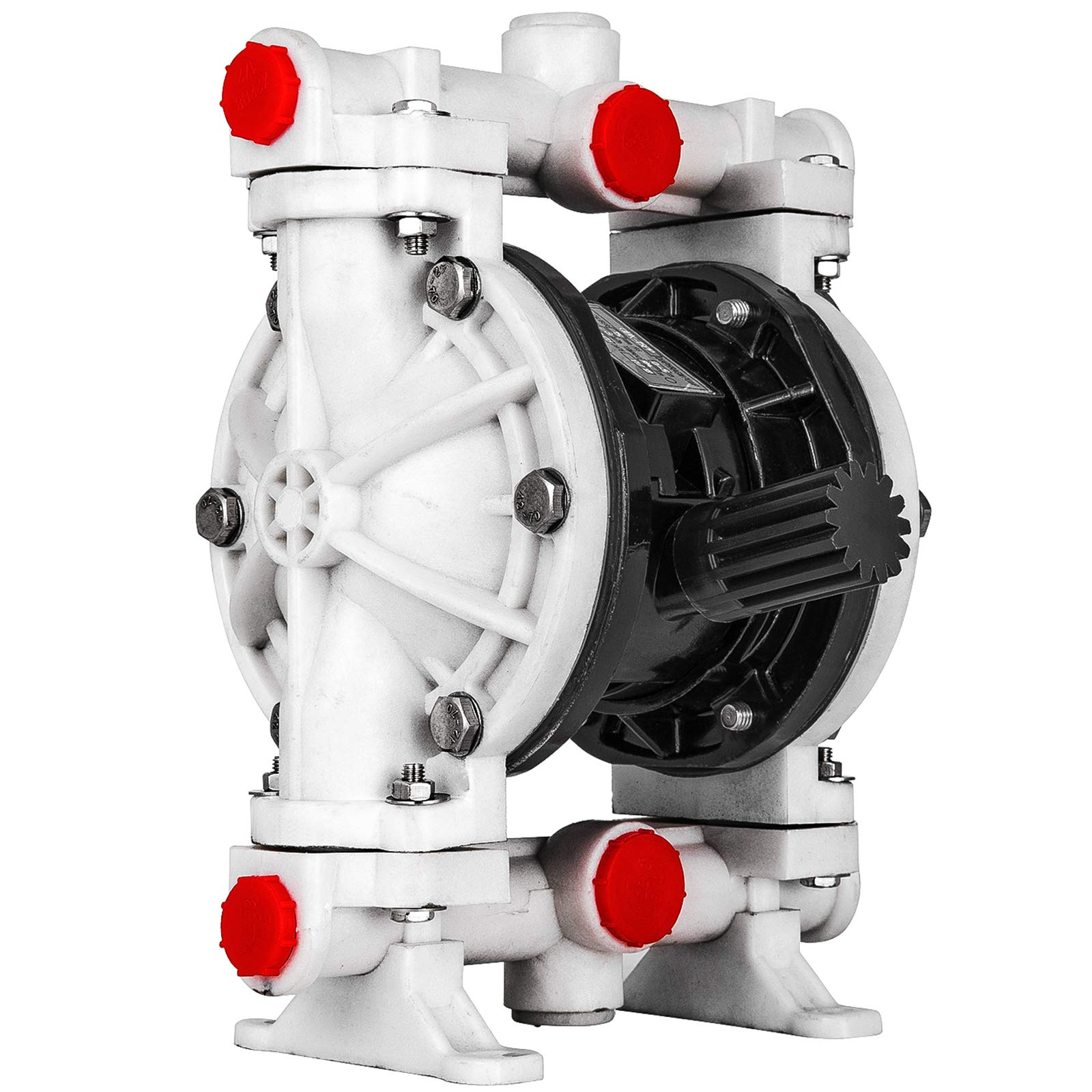 Happybuy Air-Operated Double Diaphragm Pump 0.5 inch Inlet Outlet Polypropylene 12 GPM Max 120PSI for Chemical Industrial Use, QBK-15PP