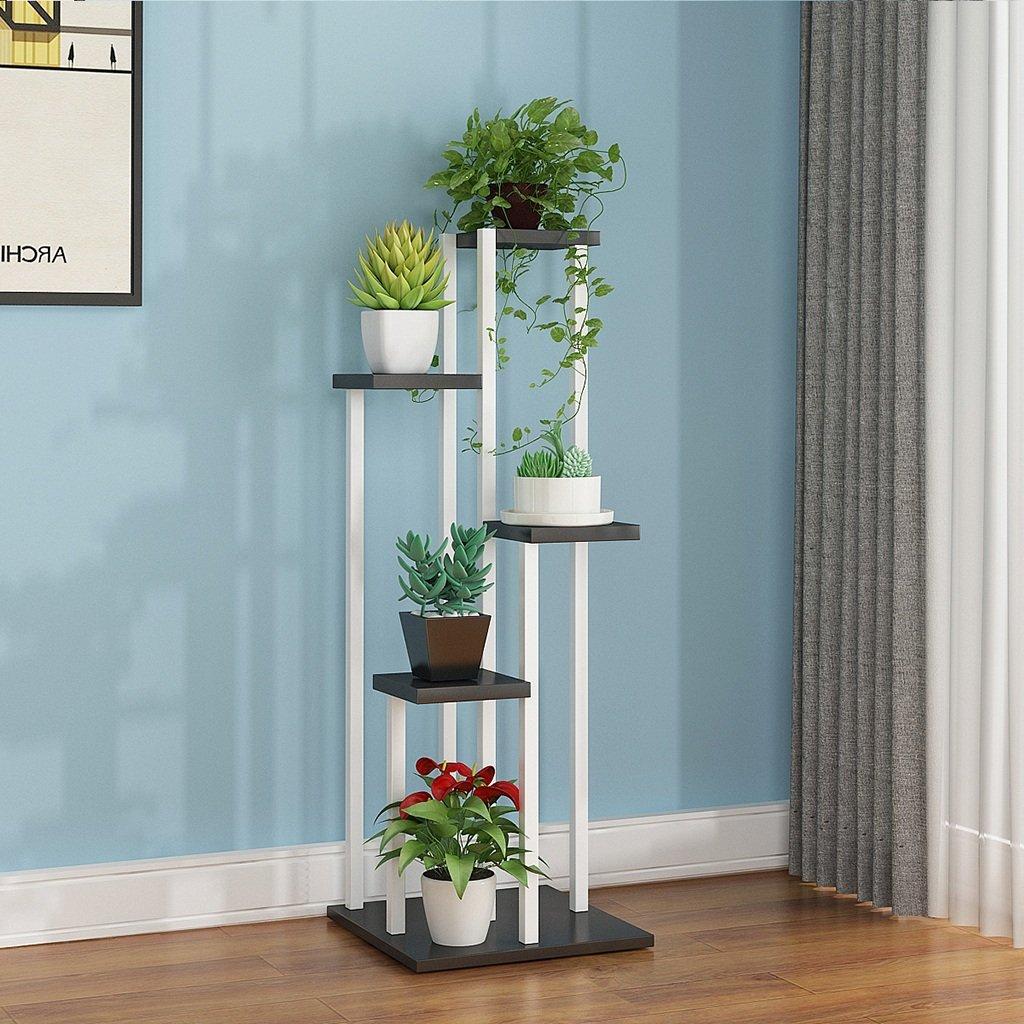 FPigSHS Scaffali Porta Piante Flower Stand Multilayer Balcone a Terra Living Room Indoor e Outdoor Risparmio di Spazio Multifunzione Shelf Pot Rack (colore   E)