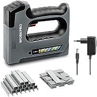 WORKPRO 6 en 1 Grapadora a Batería 3,6V, Con 2000pc grapas, Grapadora/Clavadora Eléctrica para Grapas de Tipo 53,140,36,8,9, Grapas de 6-15mm, Ideal para Renovaciones,…