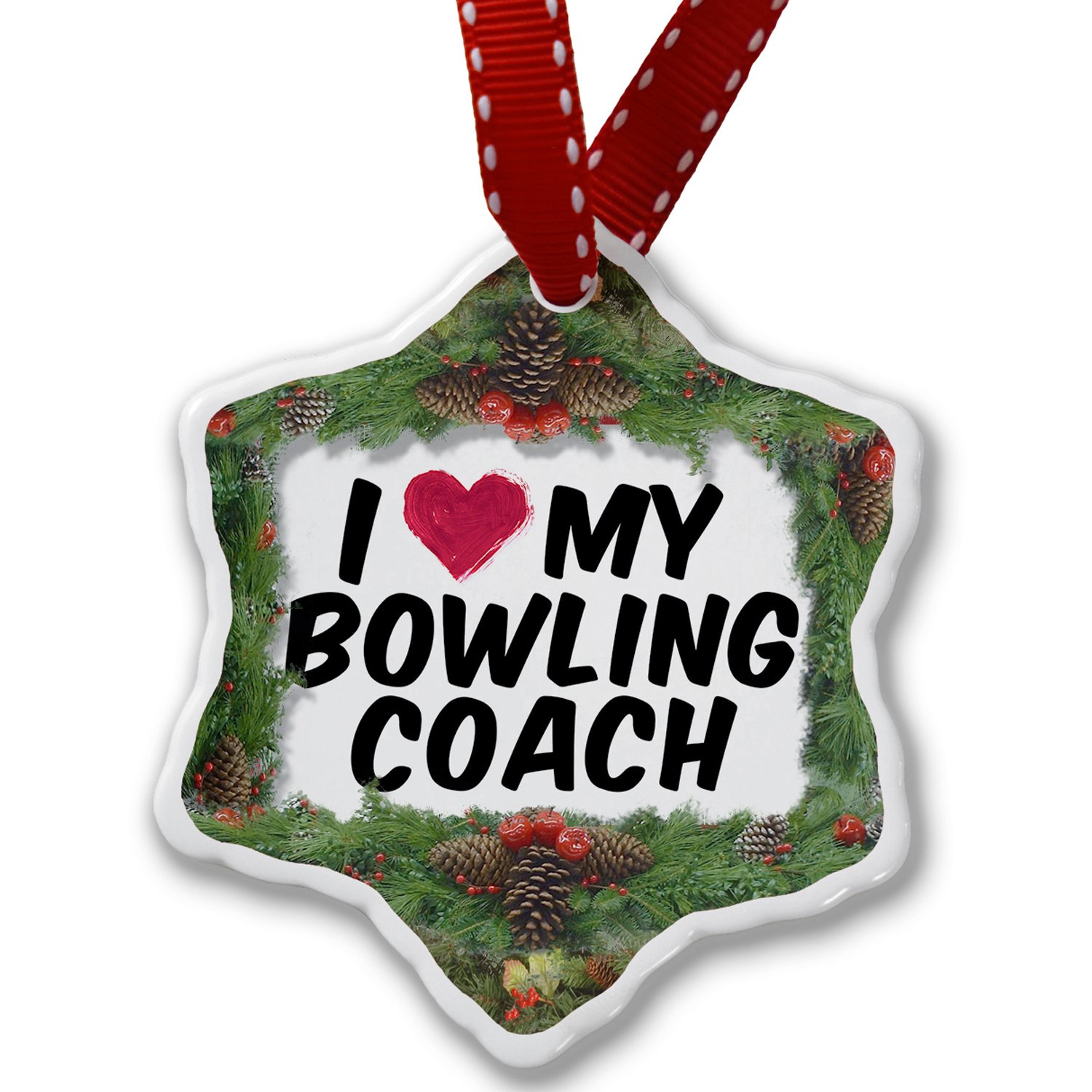 NEONBLOND Christmas Ornament I Heart Love My Bowling Coach ornament-01-133521