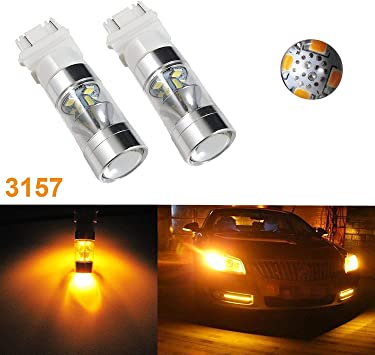 A Pair 10-3528-SMD Amber Led Car Signal Side Marker Front Bulbs T10 194 2825 168