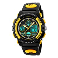BesWLZ Boys Watches Multifunction Dual Time Digital Watches Alarm Sports Waterproof Kids Watches