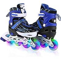 WeSkate Rollers Enfant Confortable Avec Roues Taille Ajustable Patins à Roulettes Filles et Garçons Taille S M L (Rose…
