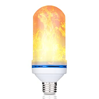 Amazon flicker flame led light bulb truly realistic flame flicker flame led light bulb truly realistic flame effect fits in a universal standard aloadofball Images