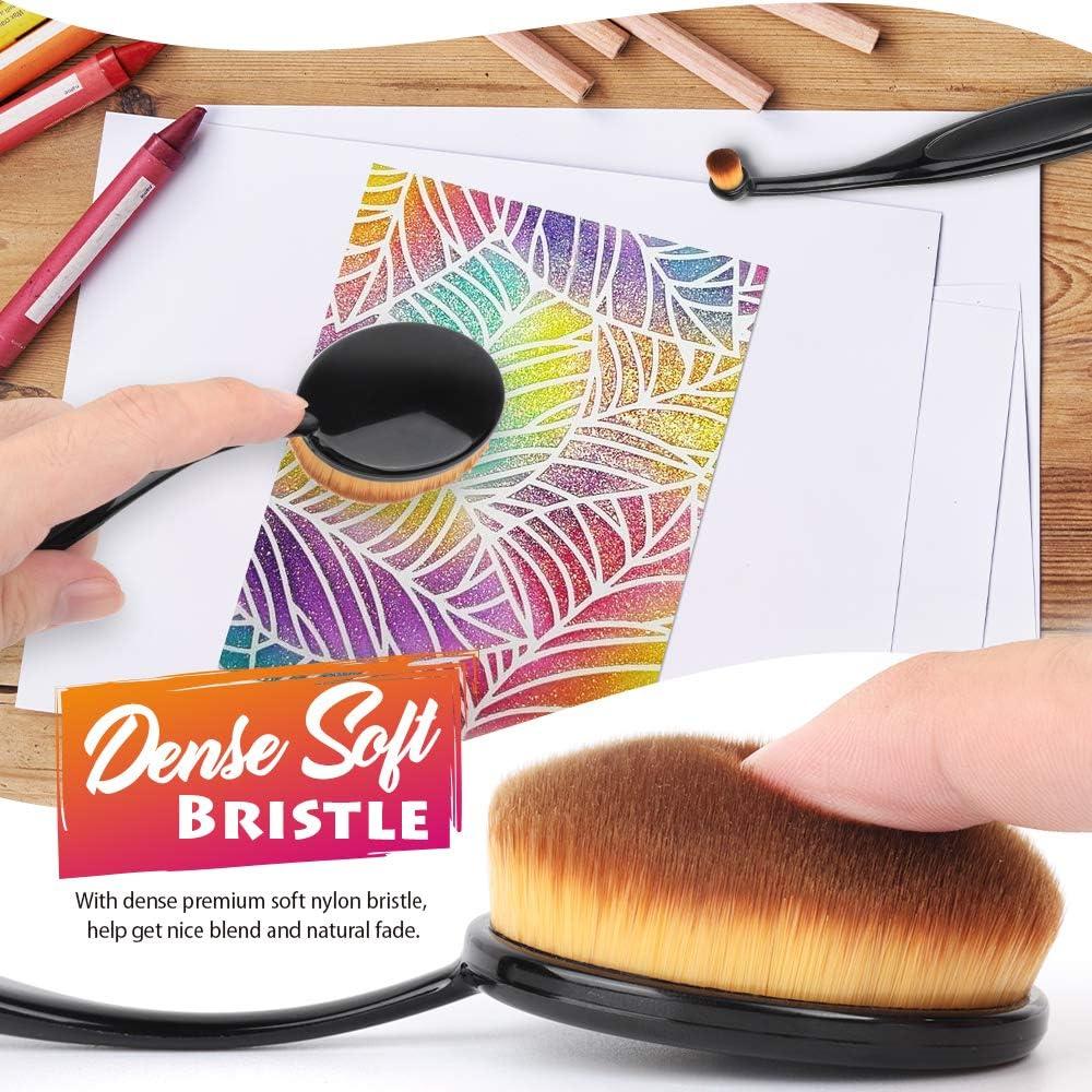 Craft Blending Brush for Ink LEOBRO Life-Changing Blending Brush with Flexible Handle and Soft Bristle 5 PCS Ink Blending Brush Color Paper Crafting