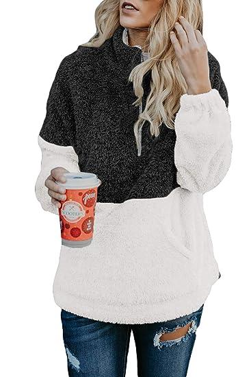 d1504fff4d6 Acelitt Women's Cozy Oversize Fluffy Fleece Sweatshirt Pullover Outwear (18  Color,S-XXL)