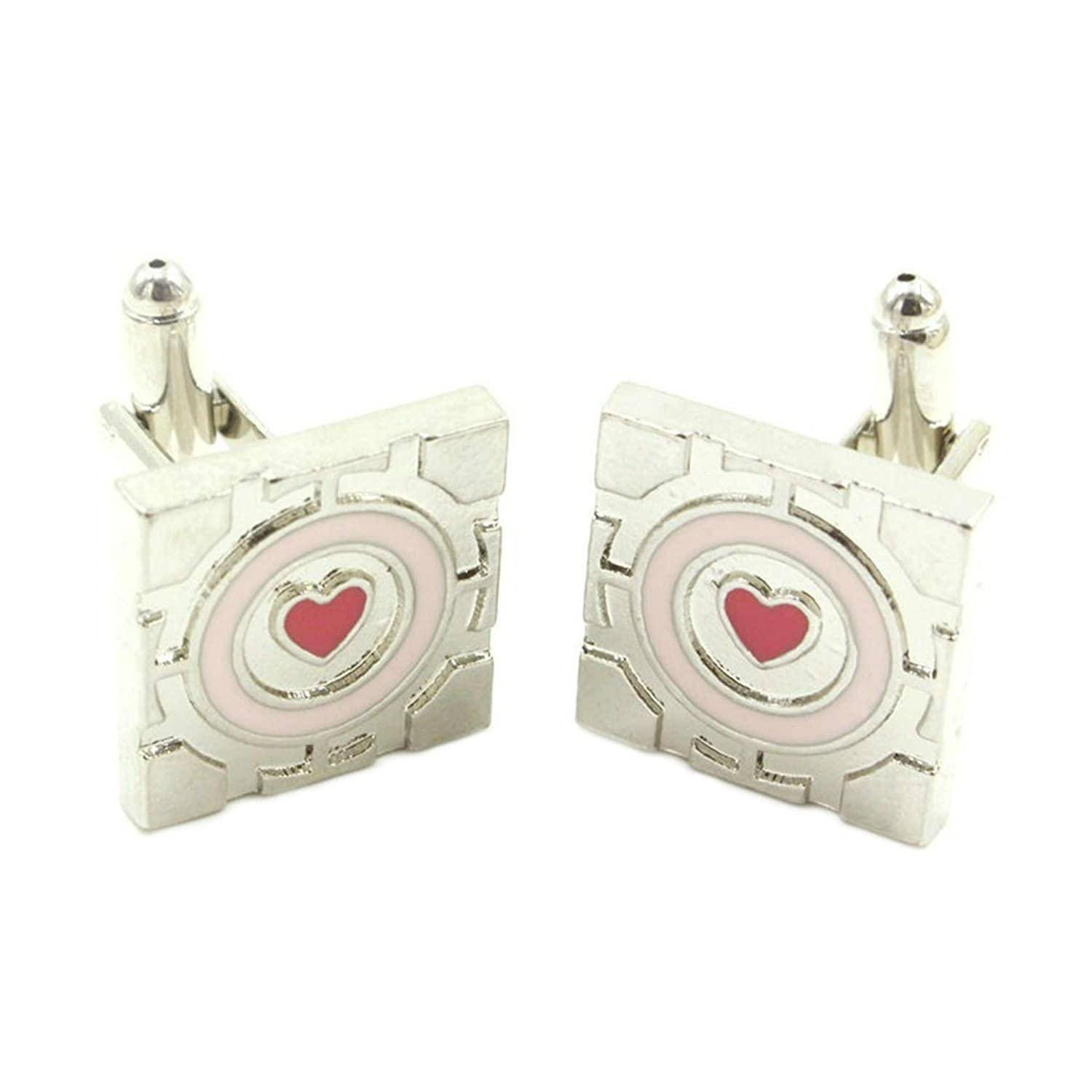 Outlander Gear Video Game Portal Companion Cube Superhero 2018 Games Theme Logos Groom Groomsmen Mens Boys Cufflinks