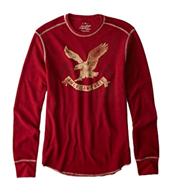 cfda8bd5c American Eagle Outfitters Mens Heritage Thermal Long Sleeve T-Shirt (XL,  Rustic Red): Amazon.co.uk: Clothing