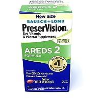PreserVision AREDS Suplemento vitamínico y mineral de 2 ojos (210 ct) con luteína y zeaxantina, geles suaves, 180 Unidades