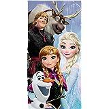 Disney Serviette de bain/plage en coton Motif Elsa, Anna et Olaf de La Reine des Neiges