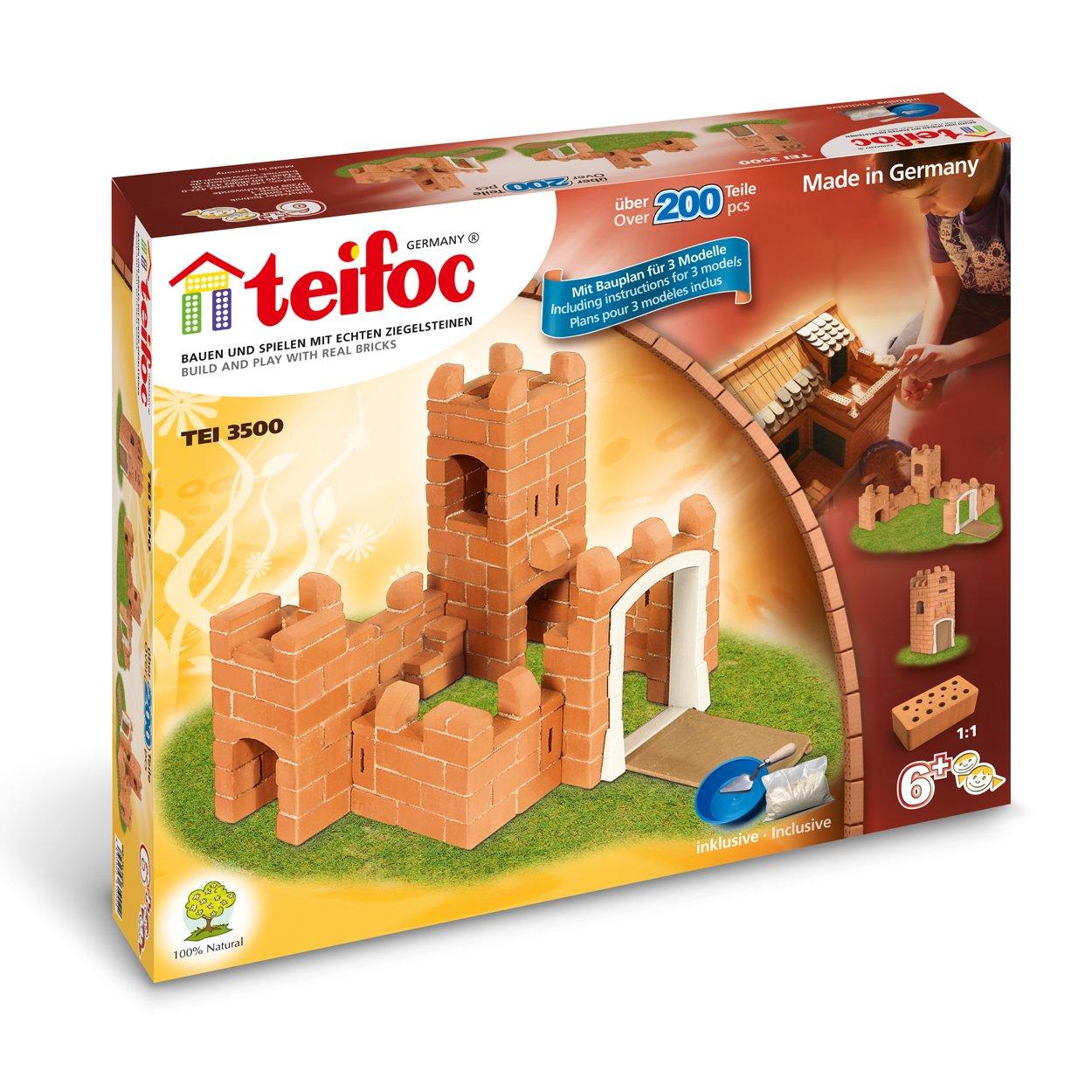 Ritterburg selber bauen - Teifoc Steinbaukästen TEI 3500 Burg