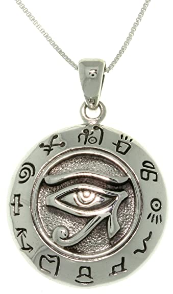 Amazon Jewelry Trends Sterling Silver Eye Of Horus Egyptian Sun