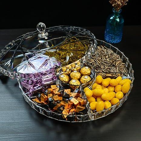 Sala Fruta Seca Placa Subsuelo - Cubiertos Bocadillos Nueces Cajas de Frutas Plástico Transparente Plexiglás (