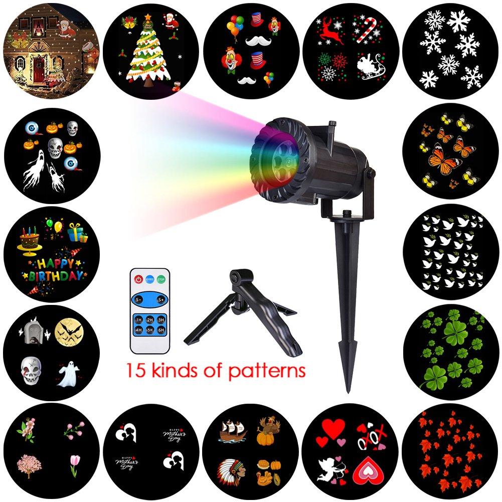 Luces de Proyector de Navidad LED Famtasme Lámpara de Proyección con Patrones