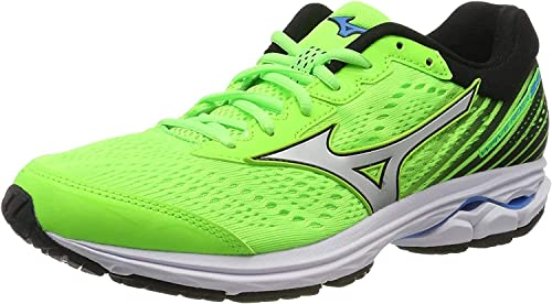 Mizuno Wave Rider 22 Zapatillas de Running Hombre, Gris (Dark Shadow/White/Safety Yellow 71), 43 EU (9 UK): Amazon.es: Zapatos y complementos